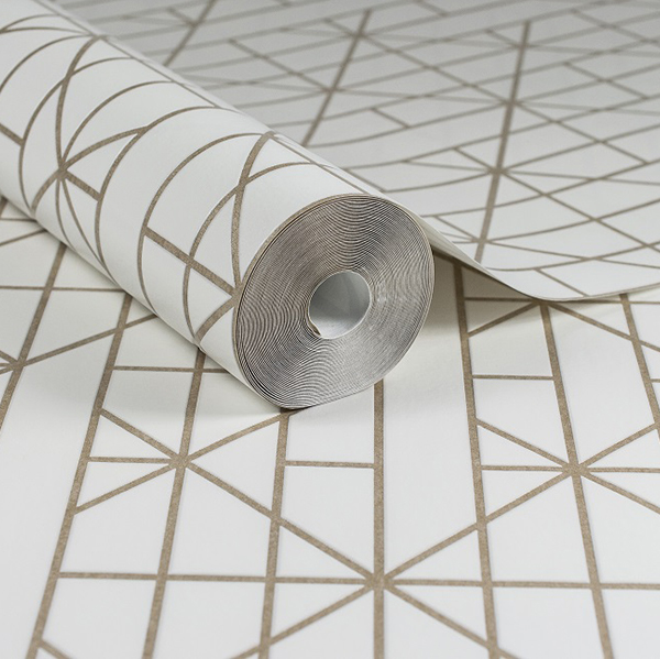 złota tapeta geometryczna